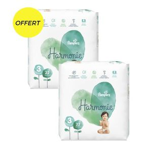 COUCHE Pampers harmonie t3 x44 couches - paquet