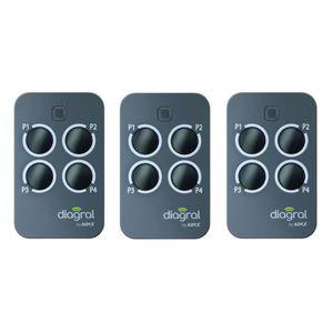 ACCESS MOTEUR PORTAIL DIAGRAL BY ADYX Lot de 3 télécommandes 4 touches p