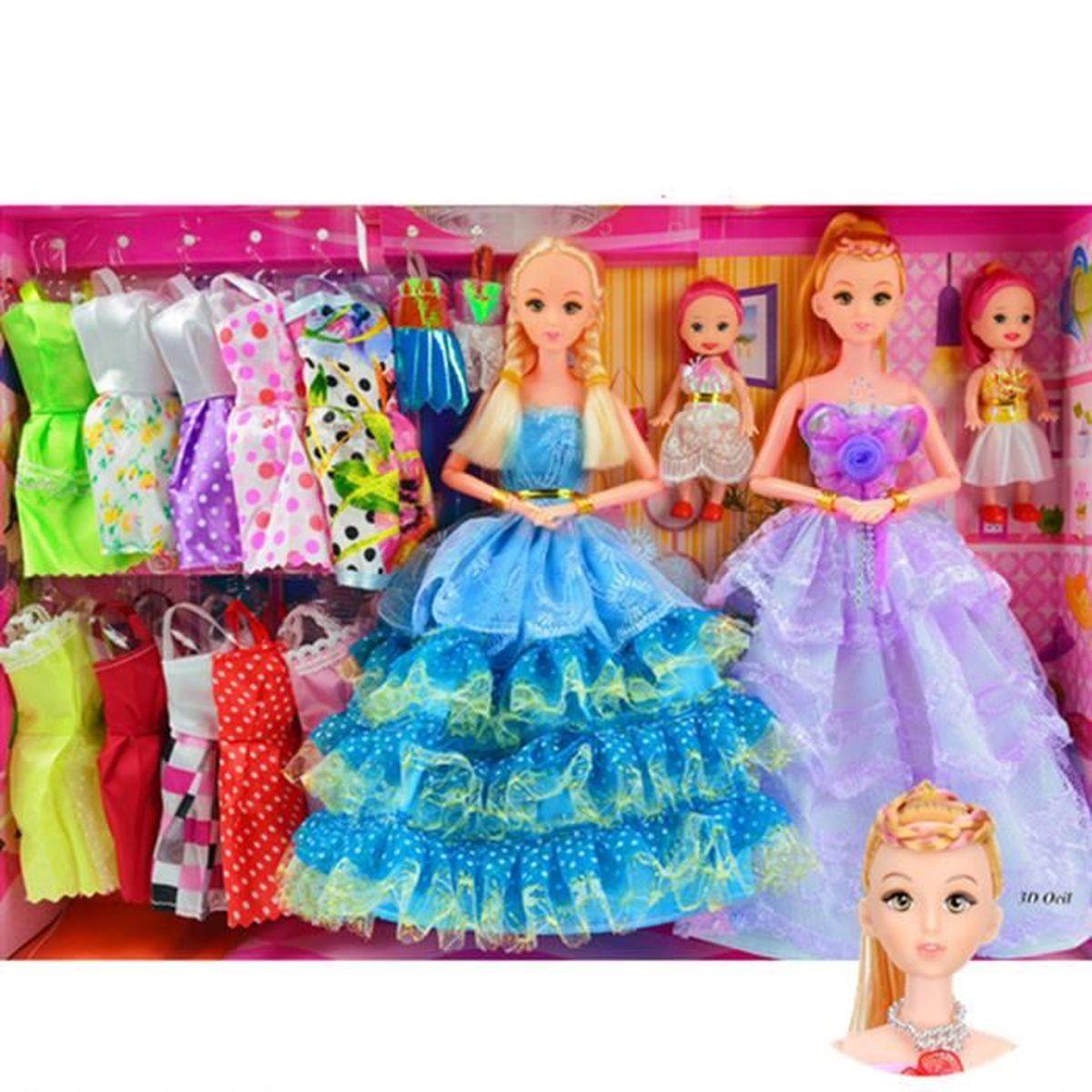 Cadeau no l poup e barbie 3d super 2016 ensemble de poupons coffret fille pour anniversaire 12 - Barbie de noel 2012 ...