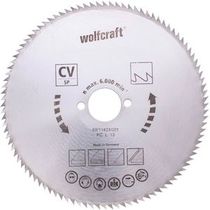 WOLFCRAFT Lame scie circulaire CV - 80 dents - ? 130 x 16 mm