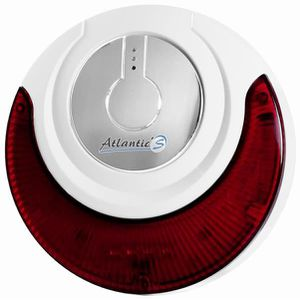 SIRÈNE D'ALARME - FLASH Atlantic'S - Sirène intérieure sans fil avec flash