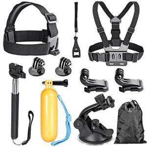 PACK CAMERA SPORT Pour  8-en-1 Action Caméra Kit d'Accessoires pour