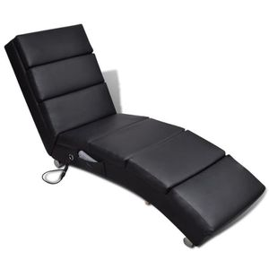 FAUTEUIL Fauteuil Relax massage inclinable Noir Cuir synthé