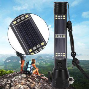 LAMPE DE POCHE Lampe de poche marteau de sécurité solaire extérie