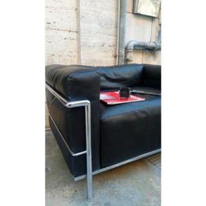 fauteuil le corbusier achat vente fauteuil le corbusier pas cher cdiscount. Black Bedroom Furniture Sets. Home Design Ideas