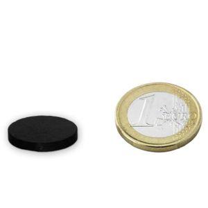 AIMANTS - MAGNETS Disque Ø 22 x  2mm Ferrite Y30 sans placage adhére