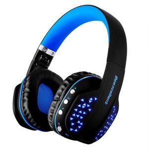 CASQUE AVEC MICROPHONE MOONMINI® BEEXCELLENT Q2 Casque Gaming - Bleu