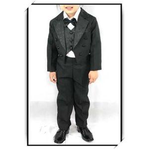COSTUME - TAILLEUR Costume gilet enfant garçon mariage VCS05 NOIR