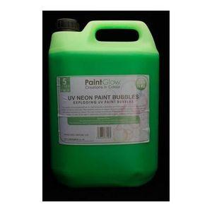 MACHINE À BULLES Liquide à bulles Paint party vert fluo UV
