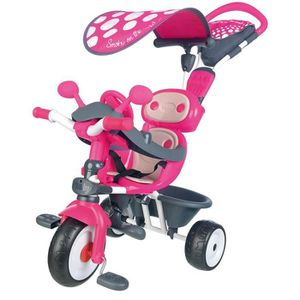 TRICYCLE SMOBY Tricycle Baby Driver Confort Evolutif Rose