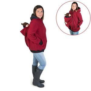 9fcfe4860616 Porte bébé rouge Trois-en-un mère multifonctions Kangourou Zipper Hoodie  Manteau avec Cap Taille avant  M, Poitrine  90-93cm,