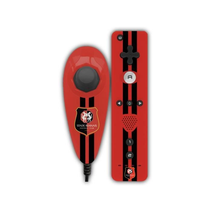 Subsonic SA5325-4 Manette pour console Nintendo WII / Wii U - Licence officielle SRF - Stade Rennais