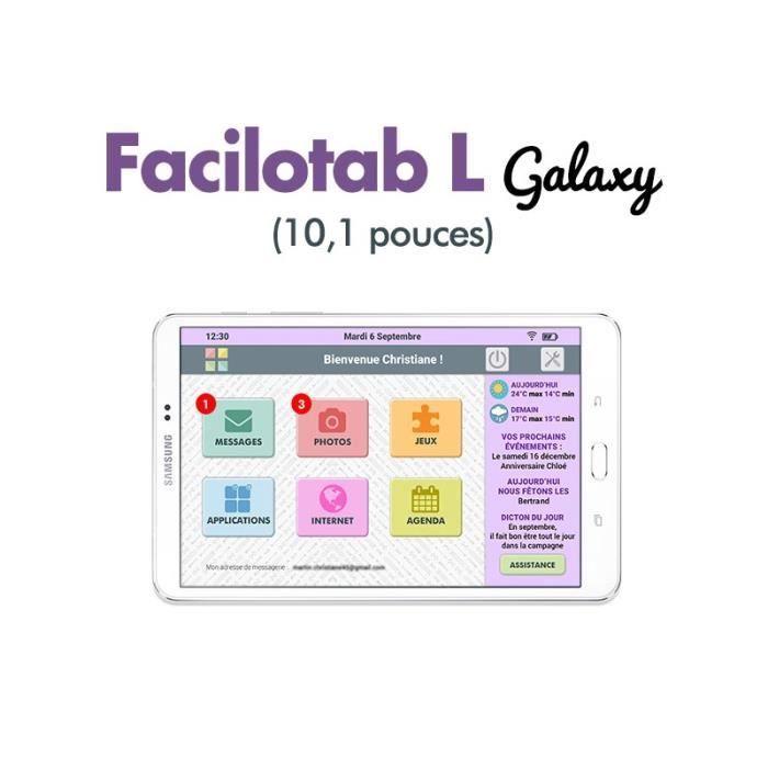 Tablette Samsung Facilotab L Galaxy 10,1 pouces WiFi - 32Go - Android 6 (Interface simplifiée pour Seniors)