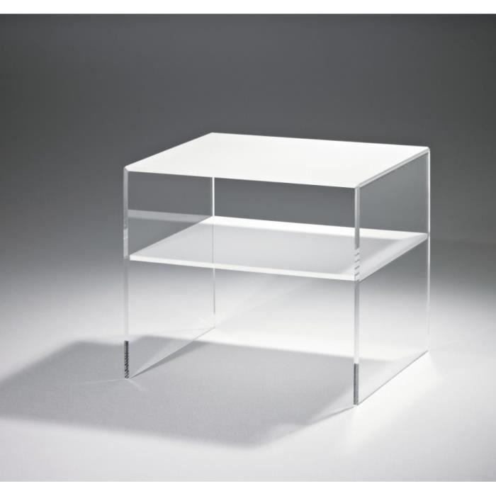Table De Nuit Plexiglas table de chevet moderne table de chevet acrylique effet verre 718
