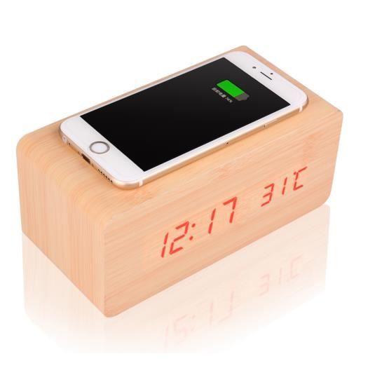 horloge bois cube numerique achat vente horloge bois cube numerique pas cher cdiscount. Black Bedroom Furniture Sets. Home Design Ideas