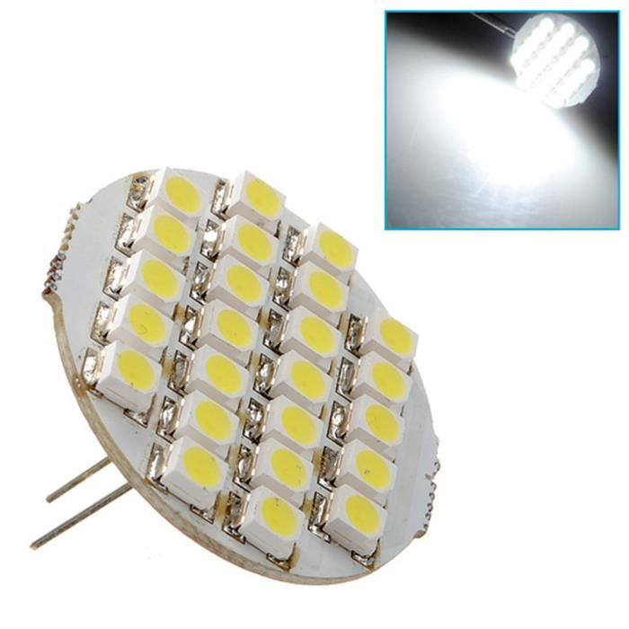 NEUFU G4 24 SMD LED Ampoule Blanc Froid Spot Lampe 1.5W 90lm 120°DC 12V 6500-7500k NF