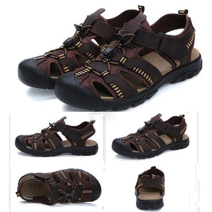 Hommes Chaussures d'été moderne en plein air froid Cool de haute Sandales de qualité