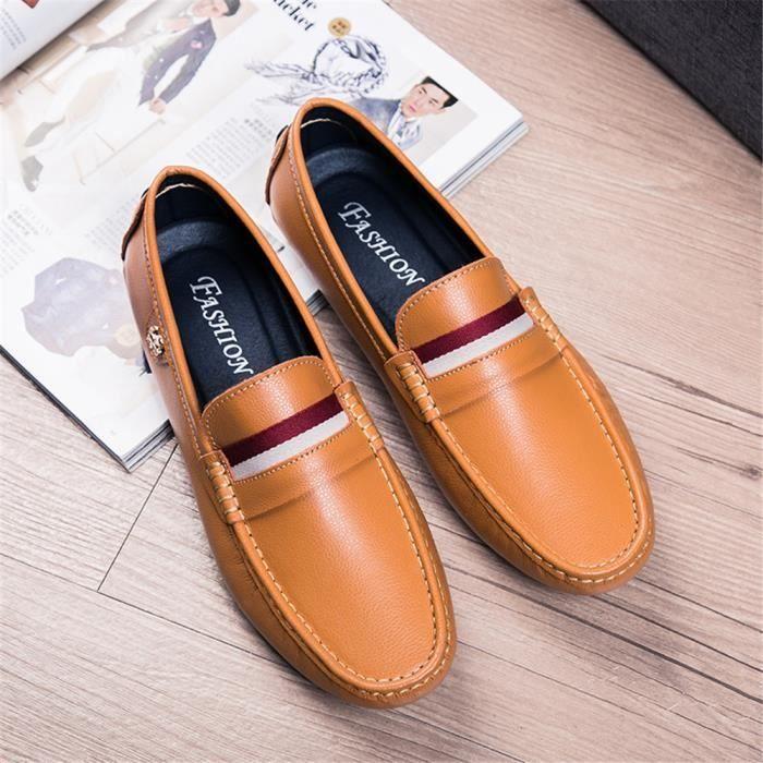 Hommes Moccasins Nouvelle arrivee Meilleure Qualité Chaussures Confortable Super Cuir Chaussures Durable 38-44