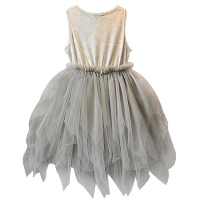 Fashion Fille Robe Vêtement D'été 5-6ans