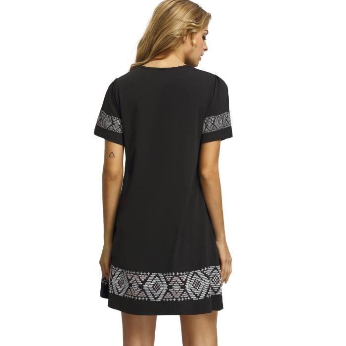 Craze 3-4 robe à manches taille froncé chic v-cou robe de cocktail décontracté GLD3F