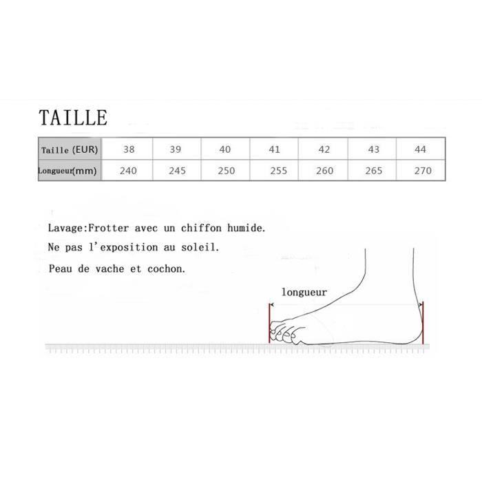 Cuir Veritable Talon Casual Ville Plat De Homme En Respirant –noir Grande Chaussures Taille38—44 Chaussons Confortable IxSXUBx