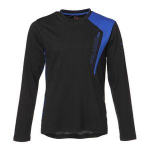 PUMA T-shirt manches longues - Homme - Noir et bleu
