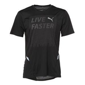 PUMA T-shirt NightCat Manches courtes - Homme - Noir