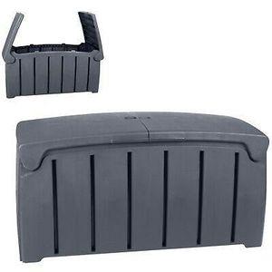 Malle Box Coffre Rangement Banc Plastique Jardin Extérieur Etanche 300l