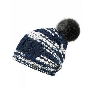 BONNET - CAGOULE BARTS - Bonnet en maille bleu pompon imitation fou ... a5faf4b5ef7