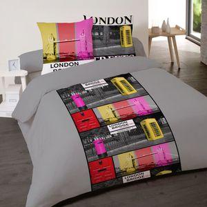 Housse De Couette London Coton 200x200 Achat Vente Pas Cher