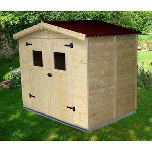 Abri en bois achat vente abri en bois pas cher for Abri de jardin bois toit plat pas cher