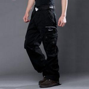 Armée Noir Pantalon Vert Coton Kaki Cargo Homme Pour 4R53AcjLqS