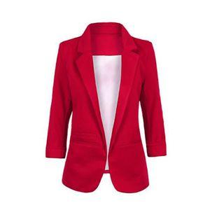 Veste Tailleur Femme Rouge Achat Vente Pas Cher