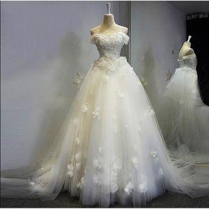ROBE DE MARIÉE HUIXIN® Robe de mariée en perle en dentelle - Robe