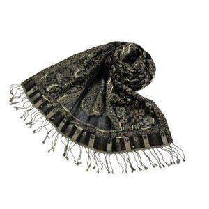 ECHARPE - FOULARD Etole Laine Motif Cachemire Paillettes N2 472a582d59f
