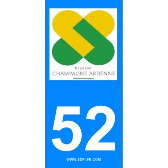 STICKZIF 2 Autocollants Région Département 52 SR52