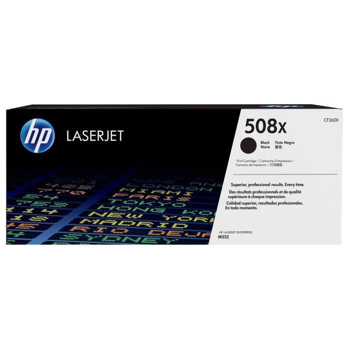 HP Cartouche de toner 508X - 12 500 pages - Noir