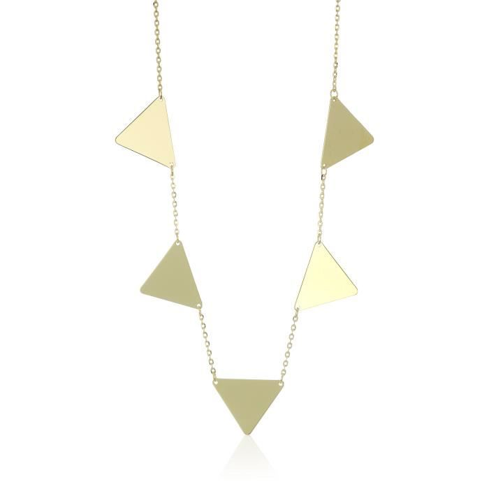 14k Yellow Gold Geometric Station Necklace, 16 + 2.5 Extender AAI8C