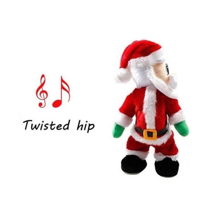 Jouet Père Noël Électrique Jouet Bouger Santa Calus Twister Hip Chantant  Cadeau Poupée