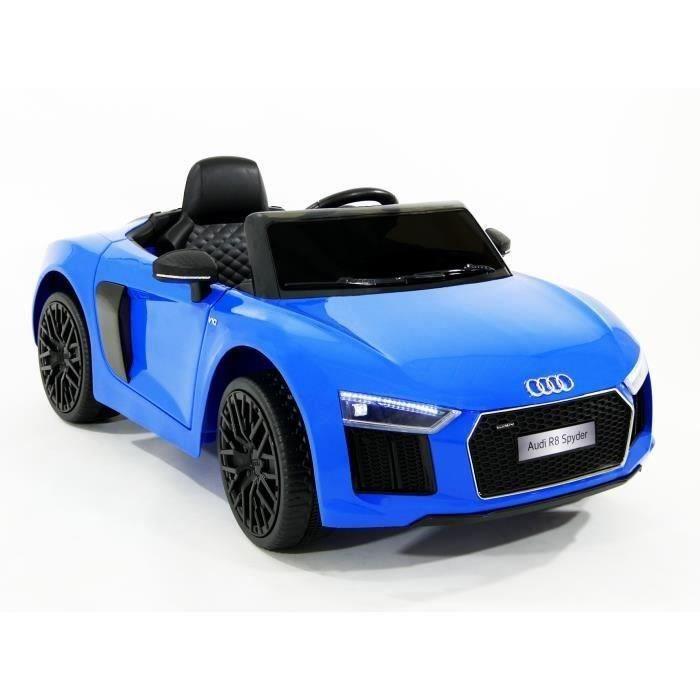 VOITURE ENFANT E-ROAD  Voiture électrique enfant Audi R8 bleue