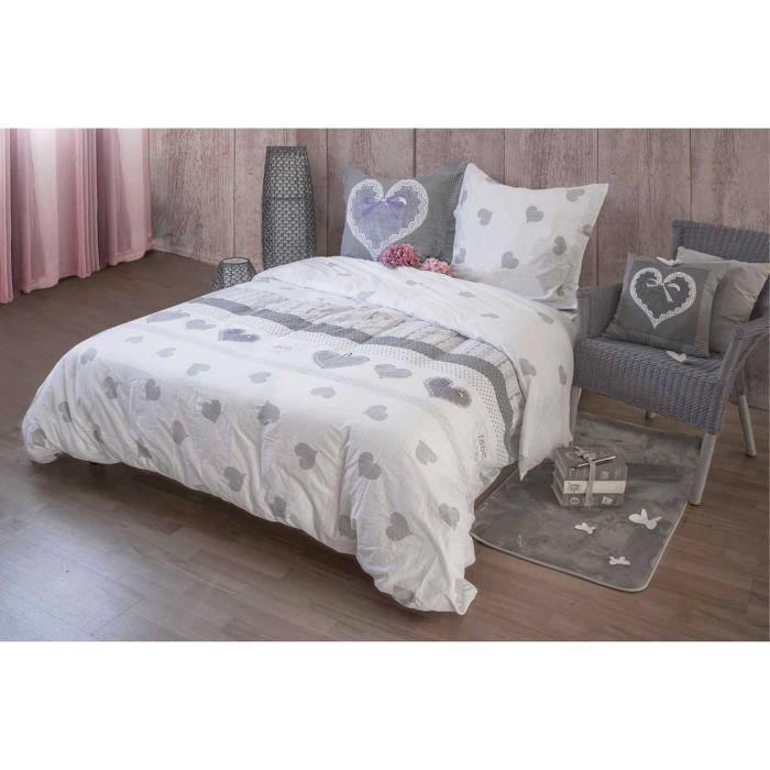 housse de couette grise et blanc lyckoax housse de couette et taie gris longueur housse couette. Black Bedroom Furniture Sets. Home Design Ideas