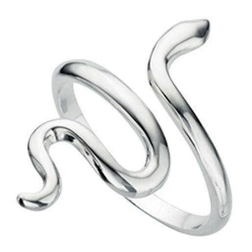 Bague serpent en argent 925/1000...
