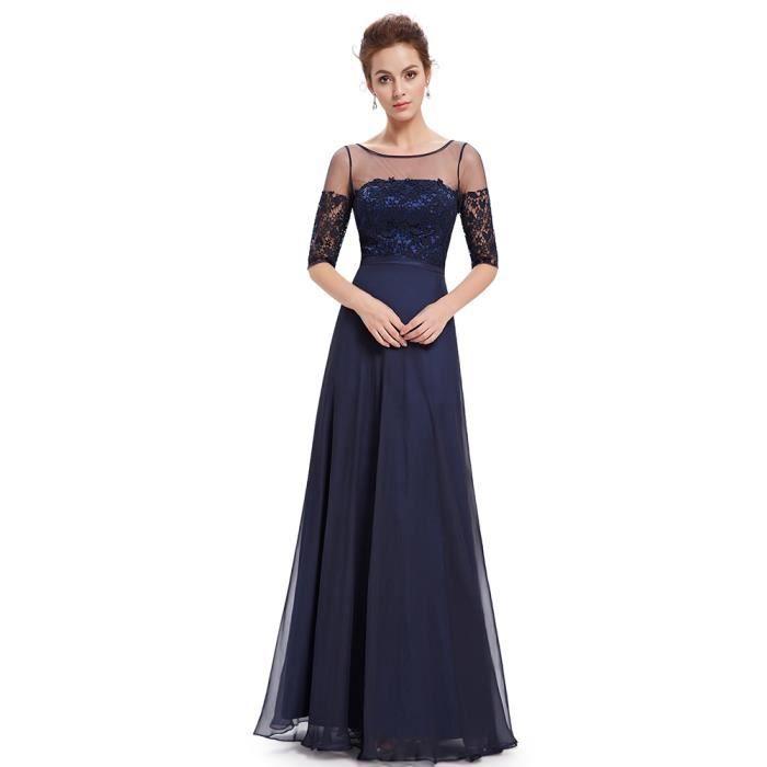 Robe de soiree bleu marine