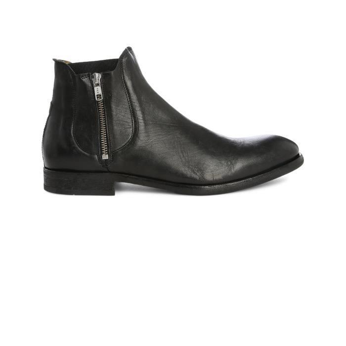 Boots zippées en cuir Noir sVV8EJdqiQ