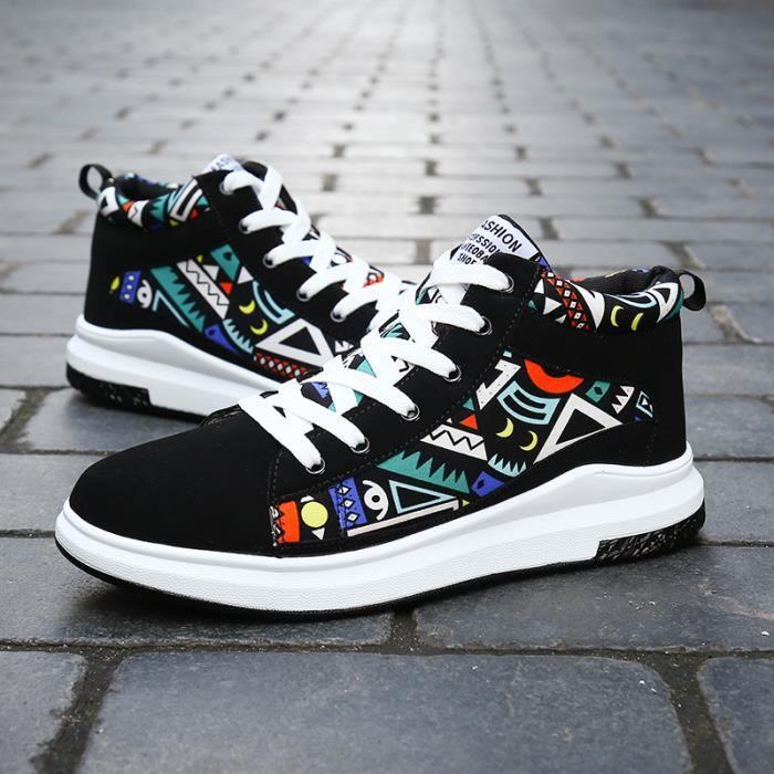 Basket Amoureux de l'hiver Chaussures de sport chaud Chaussures de coton occasionnelles Chaussures à talons hauts