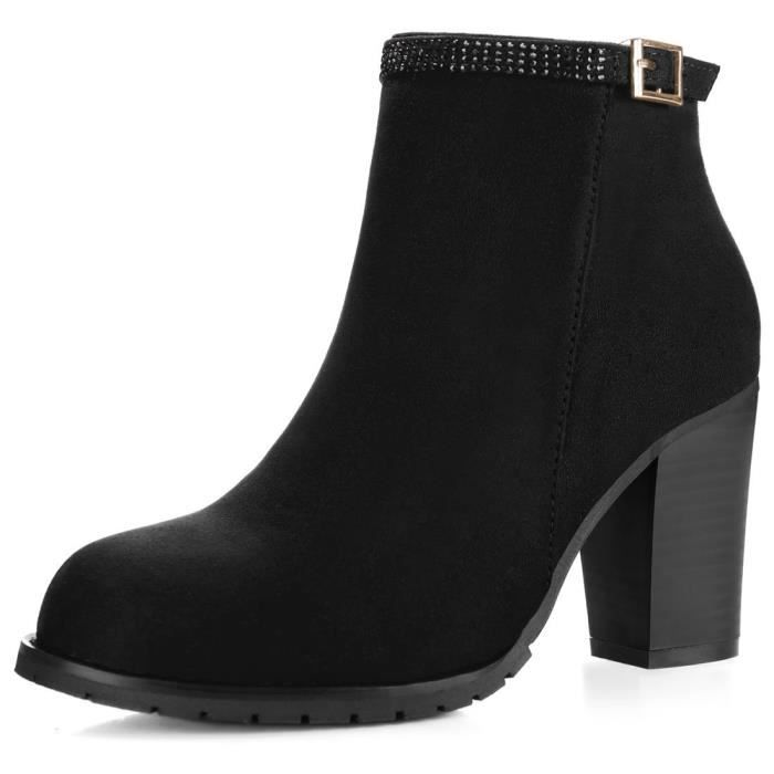 Rhinestone Strap Ankle Booties QUHRG Taille-40