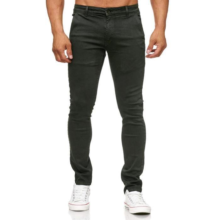 ac832bb8622e5 Jeans stretch marron homme - Achat / Vente pas cher