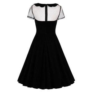 ... ROBE Robe noire en velours avec haut en résille, retro ... 83d8b8849f01