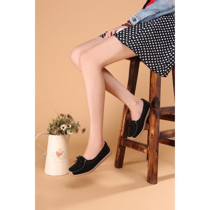 À lacets en cuir daim Mules Mocassins Mocassins Chaussures de travail 9802 MP35L Taille-38 1-2 IxXWG0