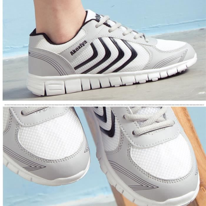 JOZSI Baskets Homme Chaussure hiver Jogging Sport Ultra Léger Respirant Chaussures SHT-XZ230Blanc40